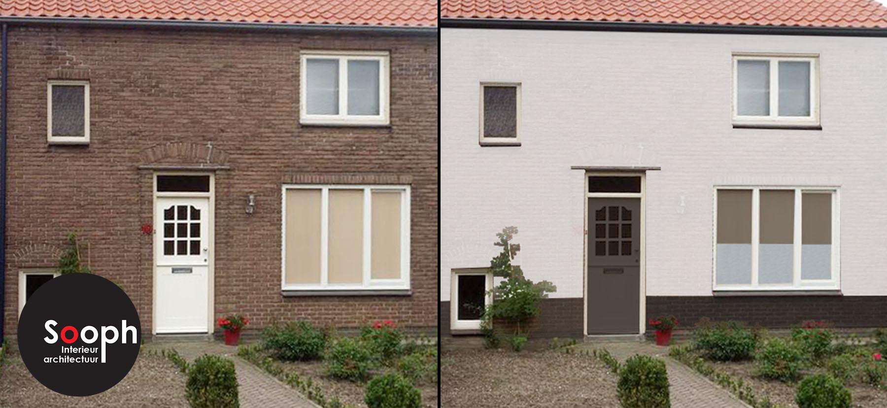 3d visualisatie for Huis voor na exterieur renovaties