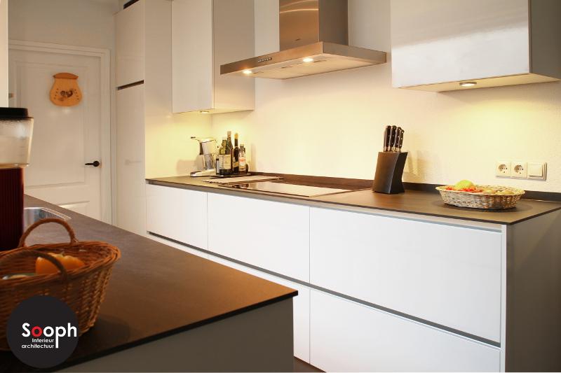 Interne verbouwing keuken en woonkamer - Keuken klein ontwerp ruimte ...