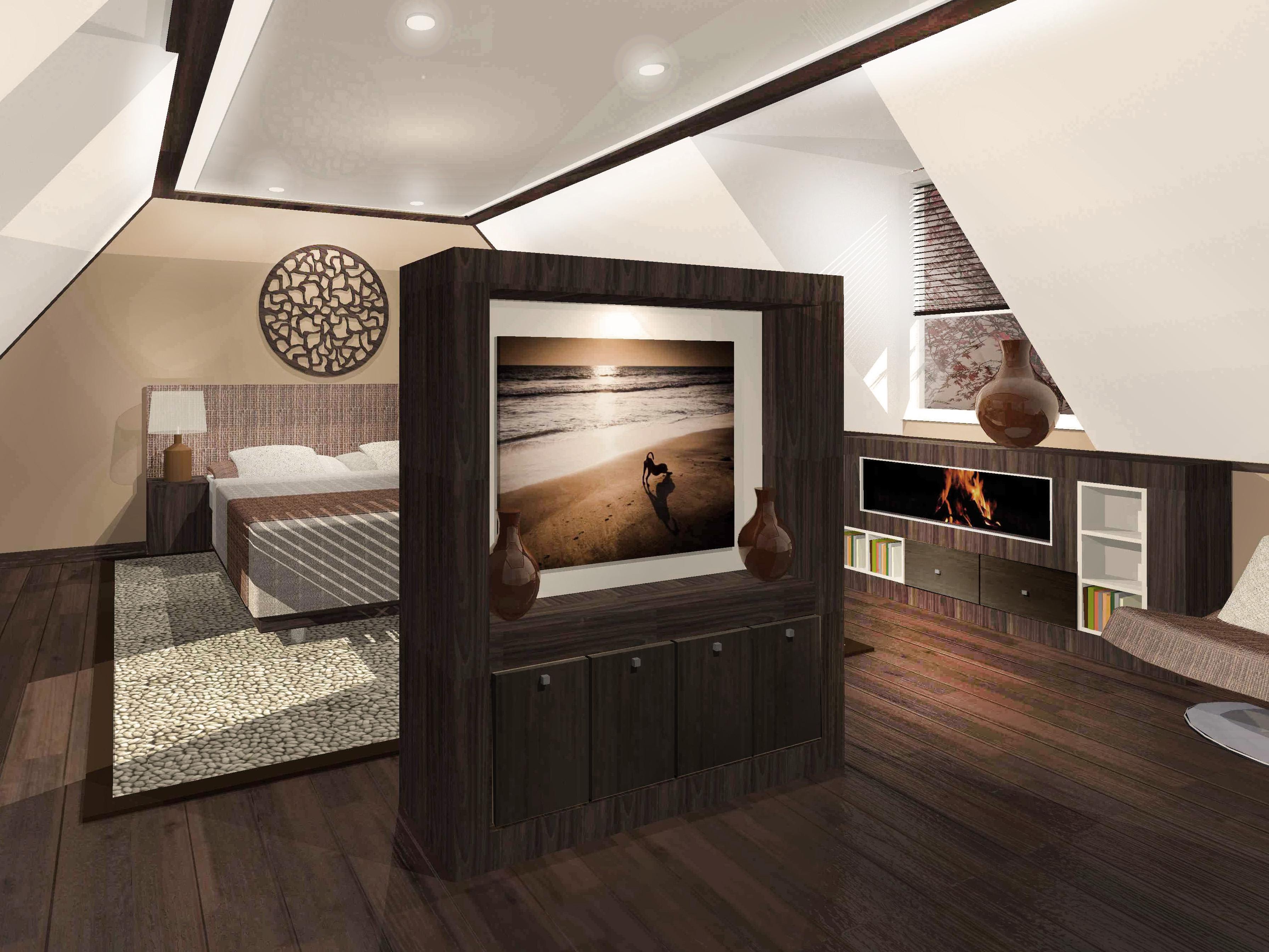 Luxe slaapkamer for 3d inrichten