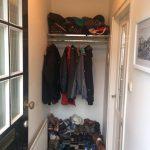 Garderobe entree voor