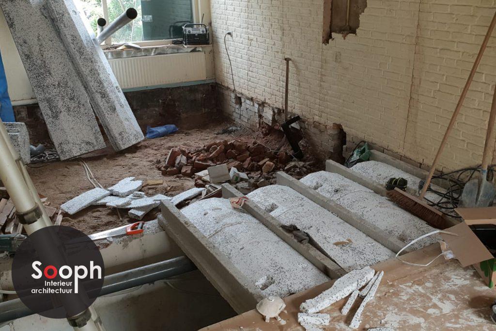 Interne verbouwing woonkamer verbouweing enschede