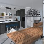 3D visualisatie woonhuis verbouwing